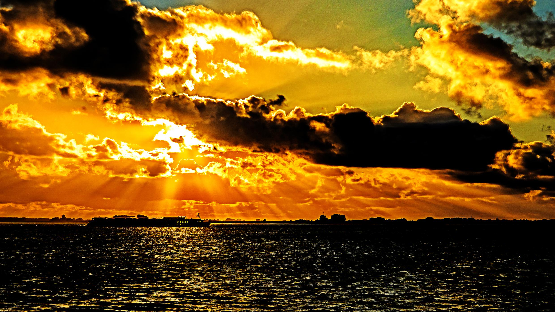 Dragan effect zonsondergang